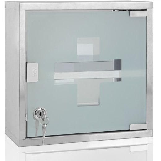 Medicine Cabinet with 2 Compartments incl. Key