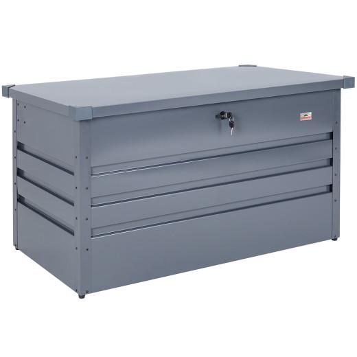 Lockable Garden Storage Box Anthracite Metal 4x2x2ft