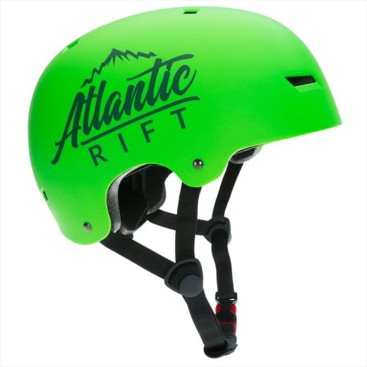 Atlantic Rift Adjustable Kids Bike Skateboard Helmet neon green S
