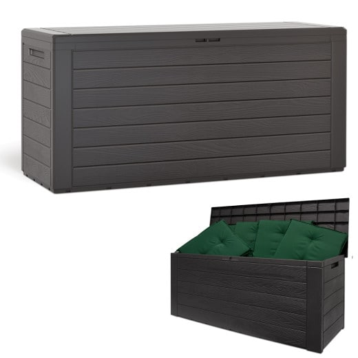 Auflagenbox Woody Holzoptik 120x46x57cm