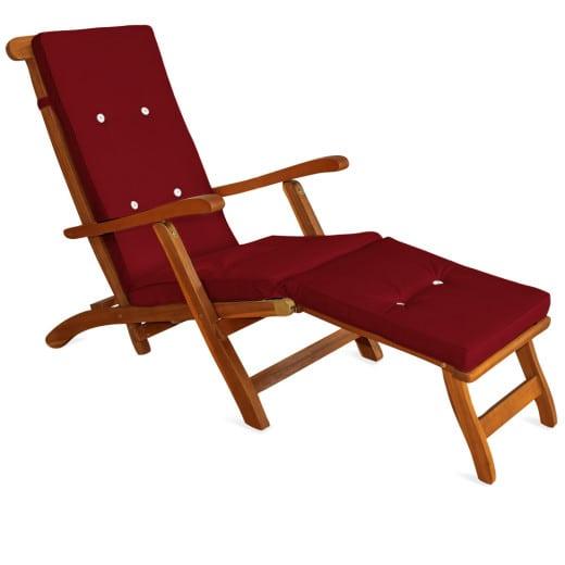 Sun Lounger Cushion Red 173x43x6cm