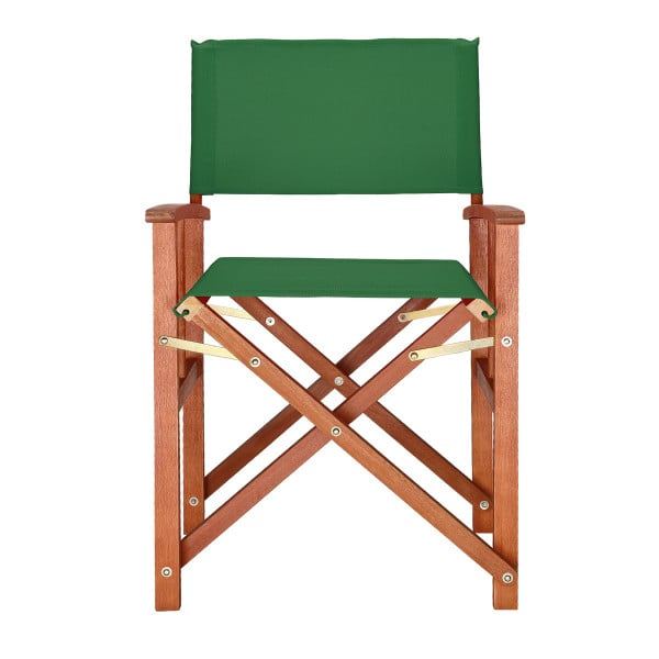 """Wooden Director's Chair """"Cannes"""" in Green made from Eucalyptus Wood"""