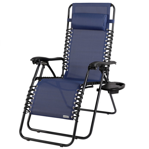 Luxury Deck Chair - Garden Recliner - blue