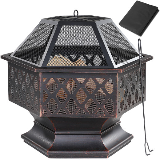 Fire Pit Bowl Heating Patio Garden Outdoor Heater