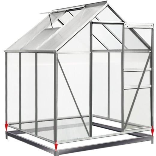 steel base for greenhouses 6x6ft