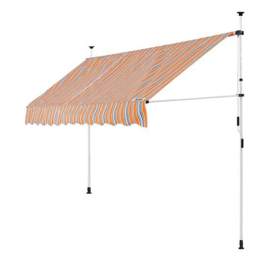 Klemmmarkise Orange/Schwarz/Weiß 300cm