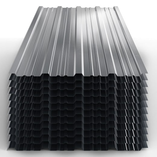 Corrugated Roof Sheets 12Pcs Anthracite 1290x450mm