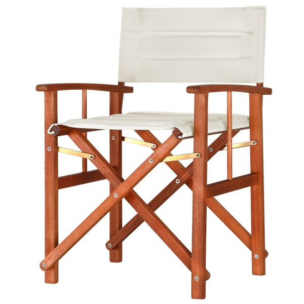 """Wooden Director's Chairs """"Cannes"""" in Cream Eucalyptus Wood"""