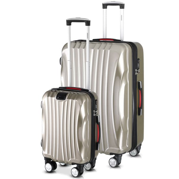 Ikarus Suitcase Set M and XL with USB - Champagne