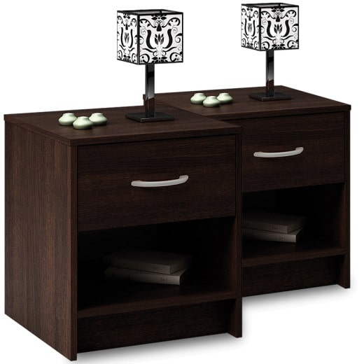 Bedside table with Drawer dark brown