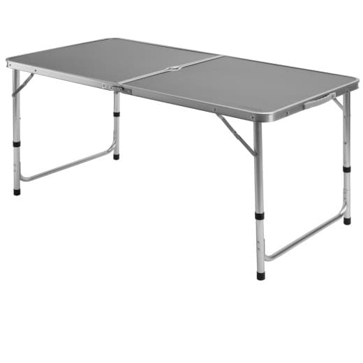Foldable Camping Table in Grey made of Aluminium