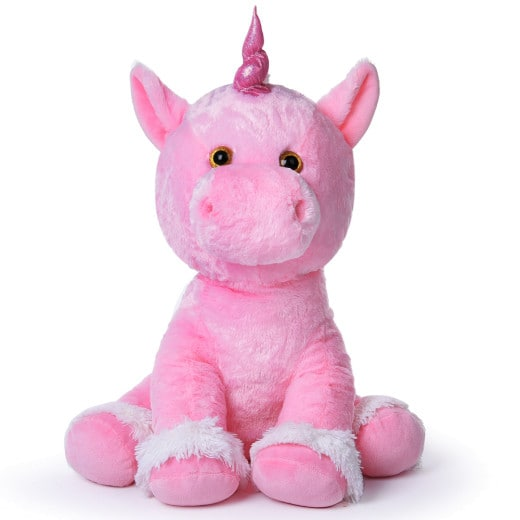 Soft Plush Unicorn Pink 2.4ft