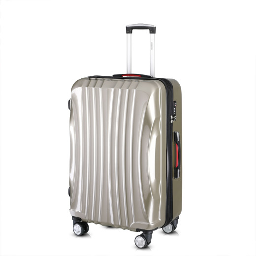 Hard Shell Suitcase Ikarus Champagne 90-102L