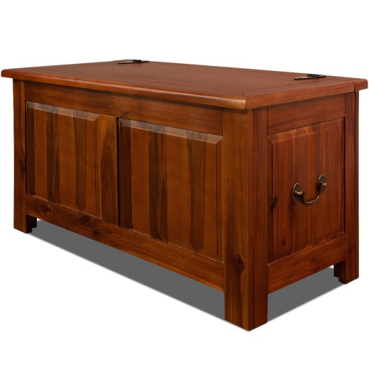 Wooden Chest Trunk made of Acacia Hardwood Storage Bench