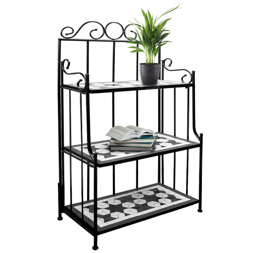 Mosaic Standing Rack Black with 3 Compartments
