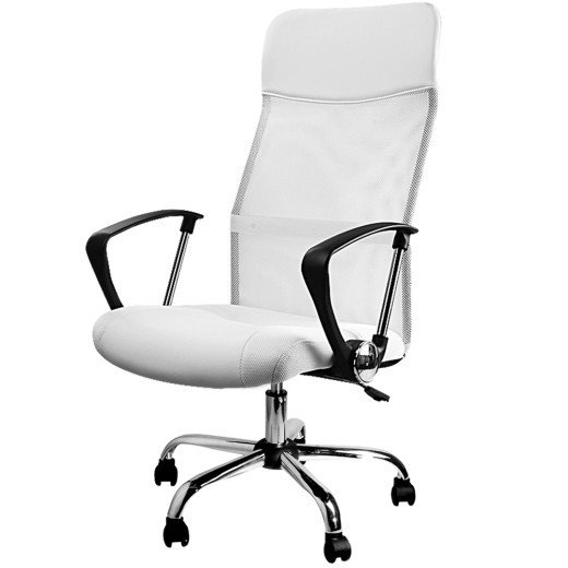 White Fuax Leather office chair
