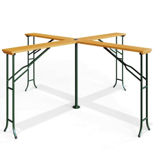"""Wooden Garden High Table """"Quattro"""" with Folding Function"""