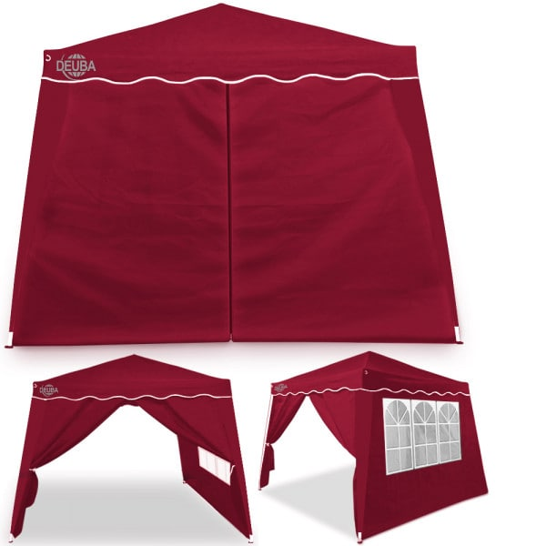 Pop Up Gazebo Capri in Red 3x3m including 4 Side Panels