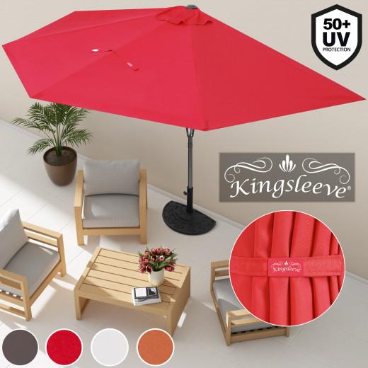 Terrassen-Sonnenschirm UV-Schutz 50+ halbrund