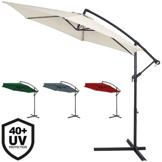 Cantilever Parasol 3m Crank & Tilt UV-Protection 40+