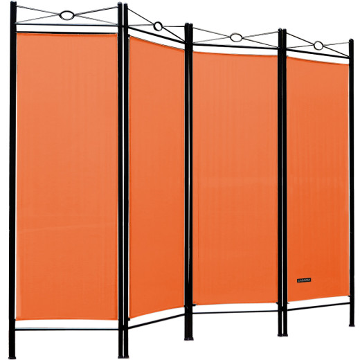 Paravent als Raumteiler in Orange 180x163cm