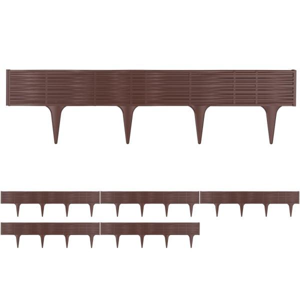 Lawn Edge Bed Frame Set 15.6m Brown