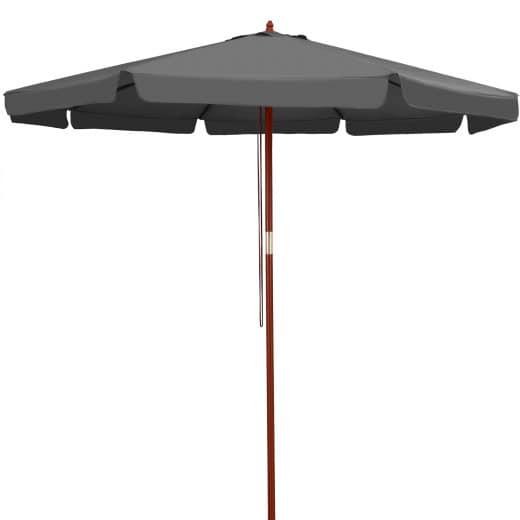 Sonnenschirm Anthrazit Holz Ø330cm UV-Schutz 50+