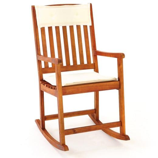 Rocking Chair Acacia incl. Cushions