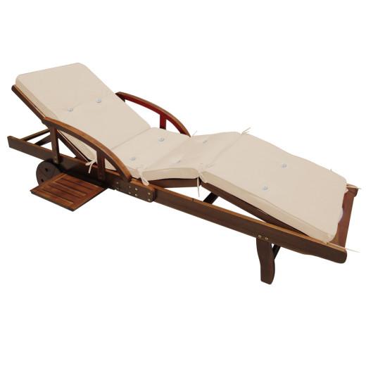 Sun Lounger Cushion Tami Sun Cream 195x55x5cm