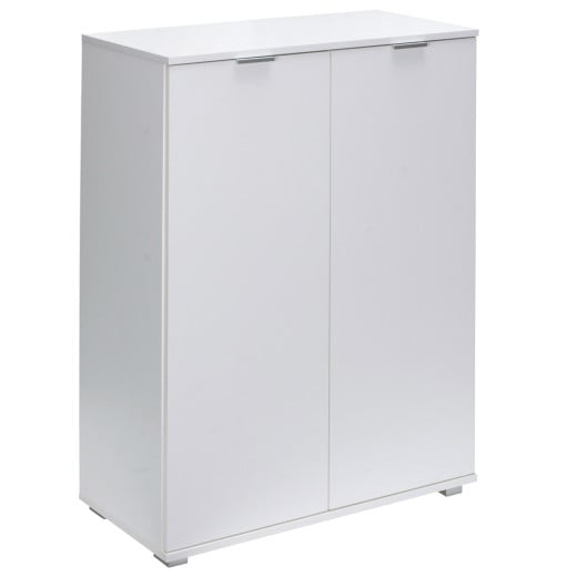 Alba Cupboard Cabinet Chest Of Drawers Storage Unit with Doors Sideboard for Bedroom Kitchen Bathroom White