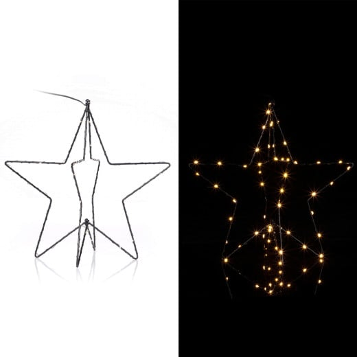 LED Star Metal in Warm White 3D