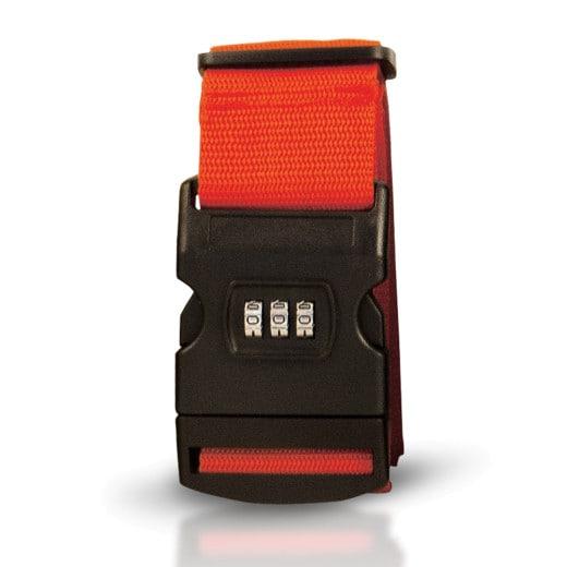 Kofferband Rot mit 3-stelligem Zahlencode