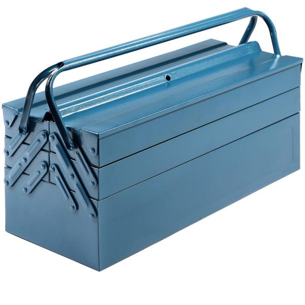 Stahl Werkzeugkoffer Blau 53x20x20cm