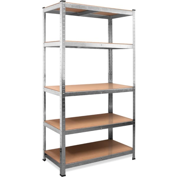Galvanized Heavy Duty Shelving with 5 tiers and a max. load of 875kg