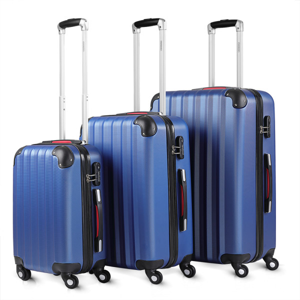 Hardshell Suitcase Blue M,L,XL - Set of 3