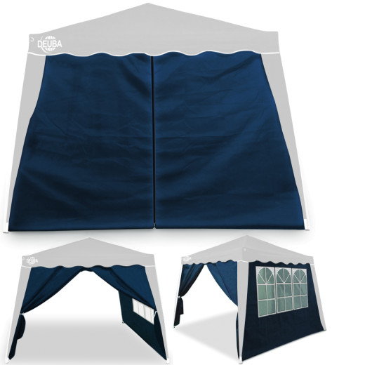 Gazebo Side Panels Capri Blue 3x3m - Set of 2