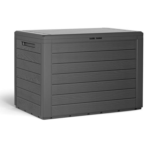 """Garden storage box """"Woody"""" in Anthracite"""