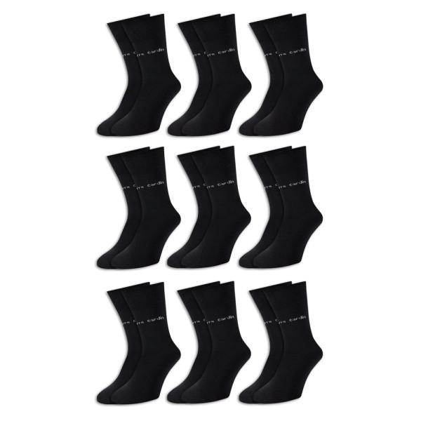 Pierre Cardin Socken 9er-Pack Schwarz Gr. 39-42
