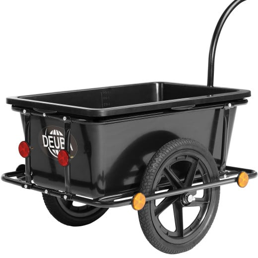 Bike Trailer Black 90L with Coupling