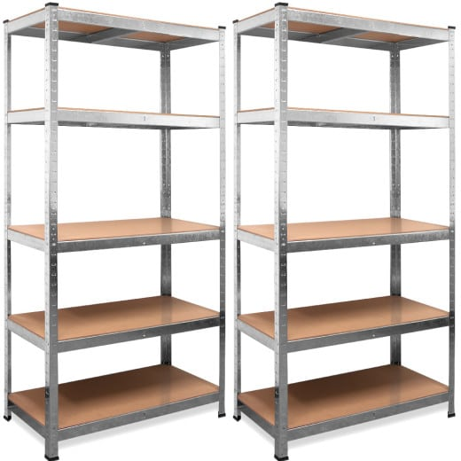2 galvanized Heavy Duty Shelves with a max. load of 875kg