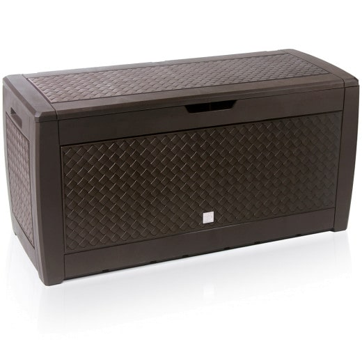 """Brown Garden Storage Box """"Matuba"""" with Wheels"""
